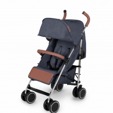 Ickle Bubba Discovery Silver Chassis Pushchair-Denim Blue