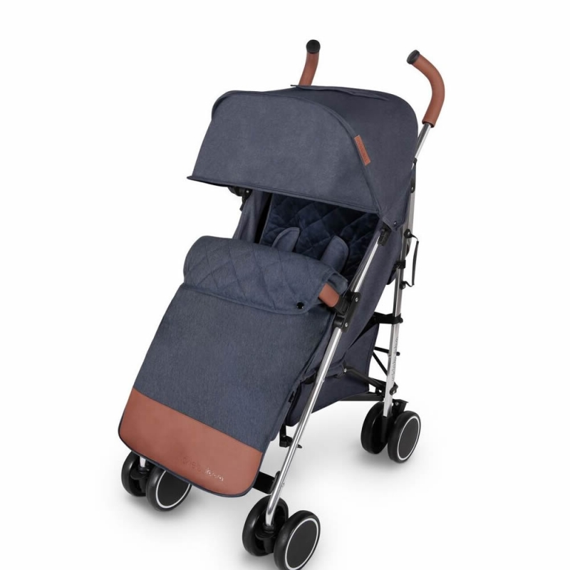 Ickle Bubba Discovery MAX Silver Chassis Pushchair-Denim Blue