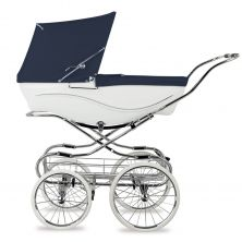 Silver Cross Kensington Pram-White/Navy