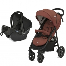 Joie Litetrax 4-Wheel 2in1 Travel System-Brick Red (New 2018)