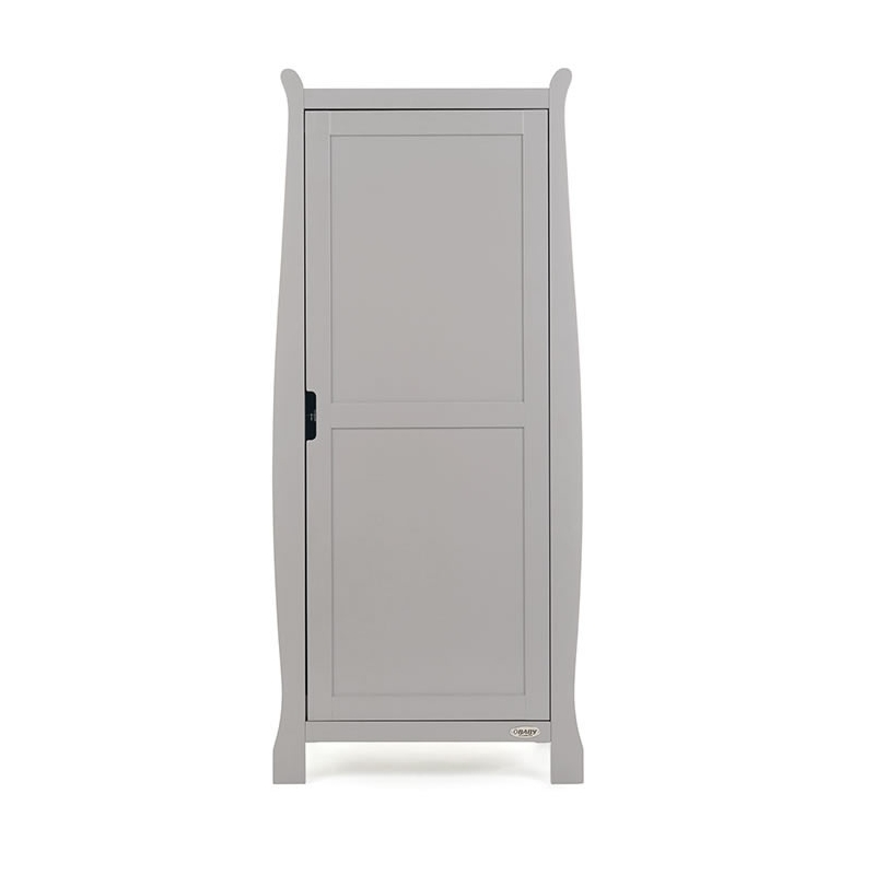 Obaby Stamford Sleigh Single Wardrobe-Warm Grey (New)