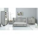 Obaby Stamford Luxe Sleigh 3 Piece Furniture Room Set-Warm Grey