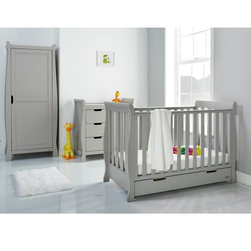 Obaby Stamford Sleigh SPACE SAVER 3 Piece Furniture Room Set-Warm Grey