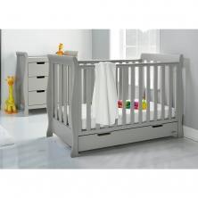 Obaby Stamford Sleigh SPACE SAVER 2 Piece Furniture Room Set-Warm Grey