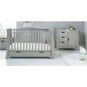 Obaby Stamford Luxe Sleigh 2 Piece Furniture Room Set-Warm Grey
