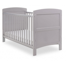 Obaby Grace Cot Bed-Warm Grey + FREE Obaby Fibre Mattress Worth 34.99!