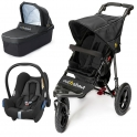 Out n About Nipper Single 360 V4 3in1 Travel System-Nomad Black