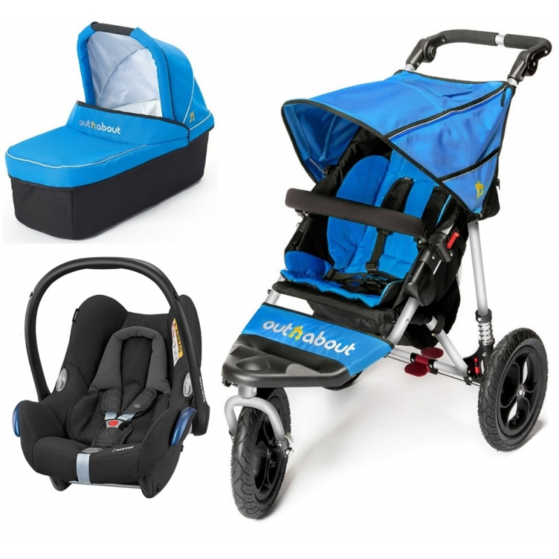 Out n About Nipper Single 360 V4 3in1 Travel System-Lagoon Blue