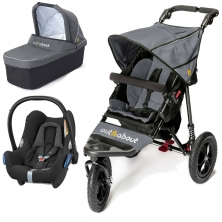 Out n About Nipper Single 360 V4 3in1 Travel System-Steel Grey