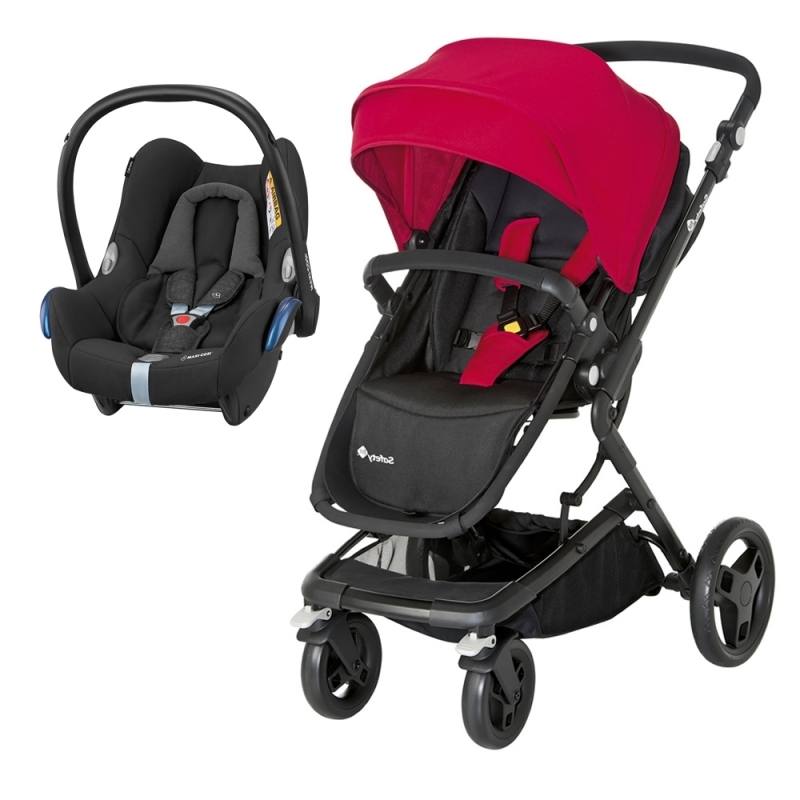 Safety 1st Kokoon 2in1 Travel System-Black & Red **Clearance**