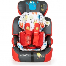 Cosatto Zoomi (5 Point Plus) 1/2/3 Car Seat-Monster Mob (New)