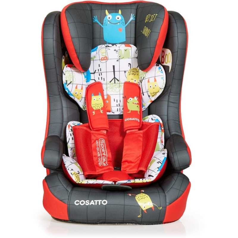 Cosatto Hubbub (5 Point Plus) 1/2/3 ISOFIX Car Seat-Monster Mob (New)