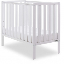 Obaby Bantam Space Saver Cot + Foam Mattress-White