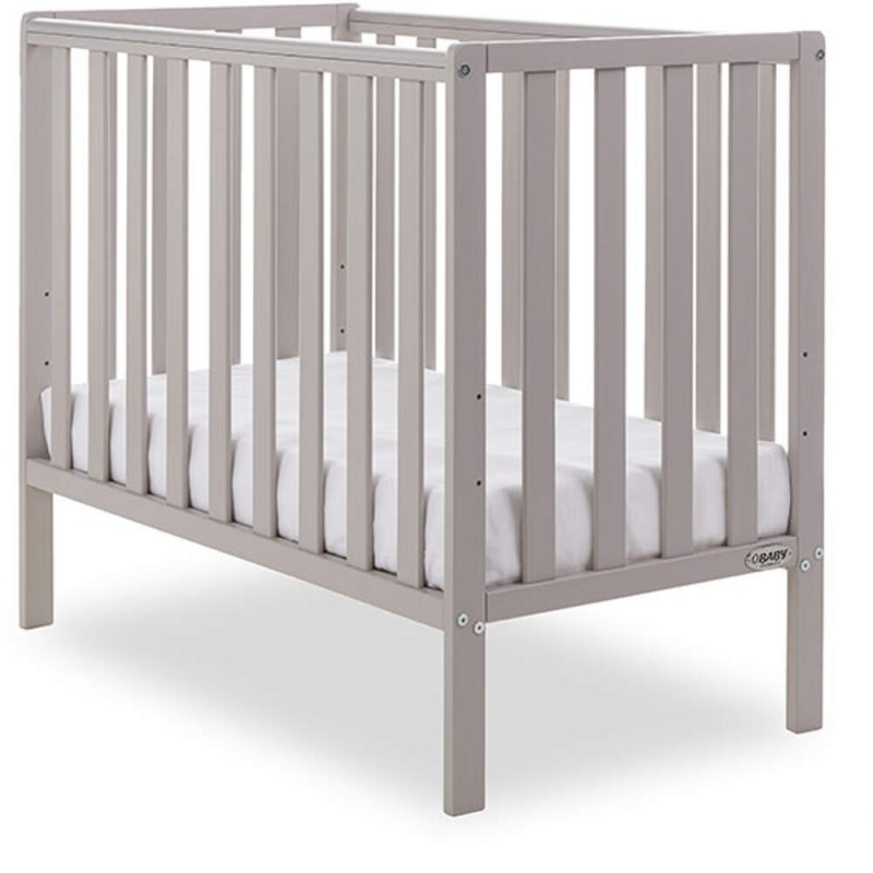 Obaby Bantam Space Saaver Cot + Foam Mattress-Warm Grey