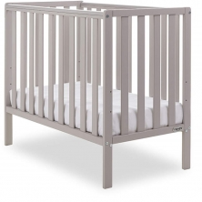Obaby Bantam Space Saver Cot + Foam Mattress-Warm Grey