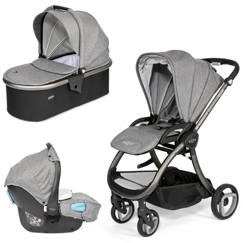 Tutti Bambini Arlo Charcoal 2in1 Pram System-Charcoal (New 2018) + FREE Comfort pack worth £85!