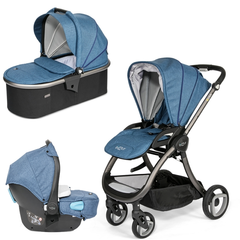 Tutti Bambini Arlo Charcoal 3in1 Travel System-Midnight Blue (New 2018) + FREE Comfort pack worth £85!