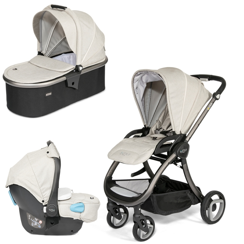 Tutti Bambini Arlo Charcoal 3in1 Travel System-Oatmeal (New 2018) + FREE Comfort pack worth £85!