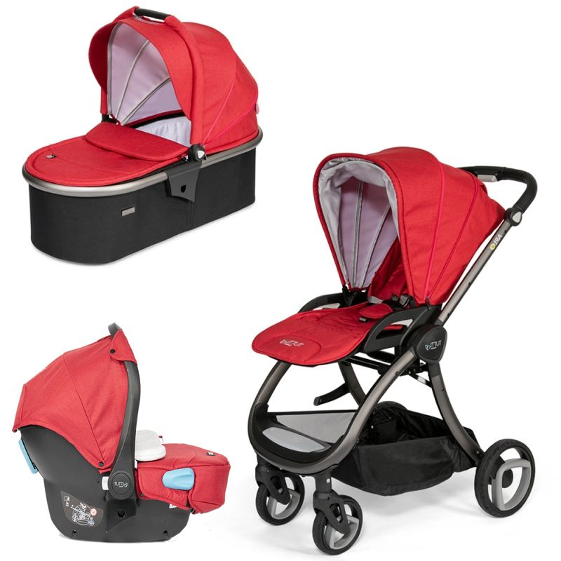 Tutti Bambini Arlo Charcoal 3in1 Travel System-Poppy