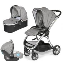 Tutti Bambini Arlo Chrome 3in1 Travel System-Charcoal