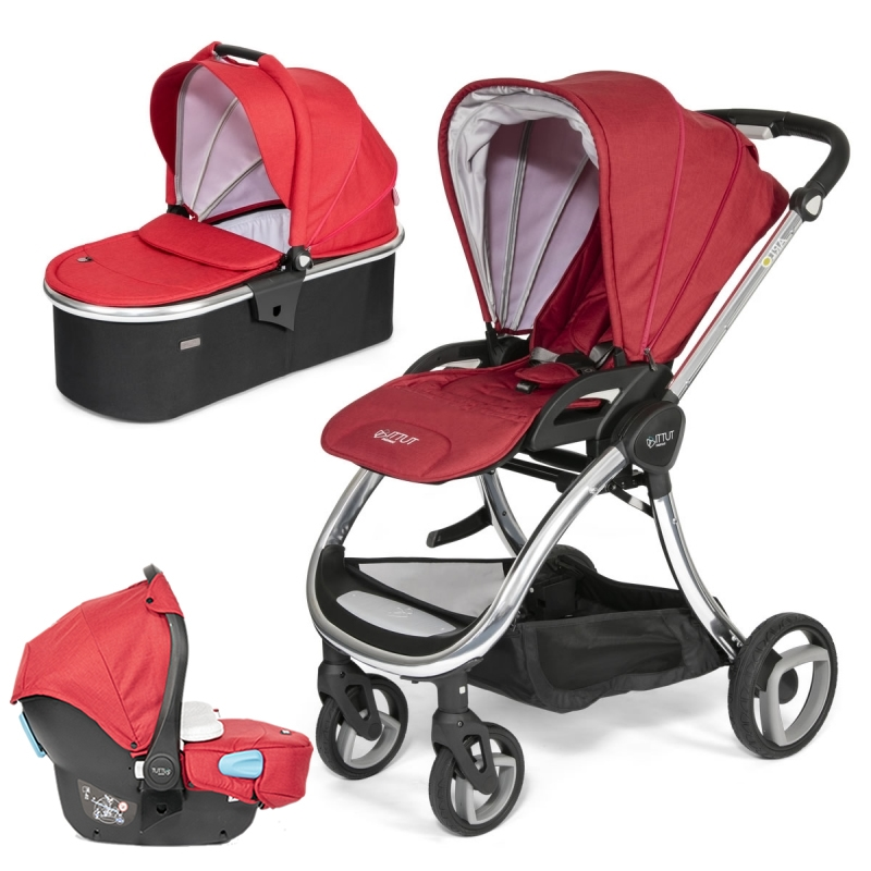 Tutti Bambini Arlo Chrome 3in1 Travel System-Poppy (New 2018) + FREE Comfort pack worth £85!