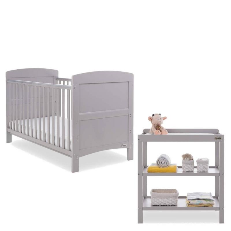Obaby Grace 3 Piece Furniture Set-Warm Grey