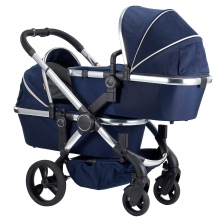 iCandy Peach Chrome Blossom Twin Pushchair-Indigo (New)