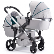 iCandy Peach Chrome Blossom Twin Pushchair-Dove Grey (New)