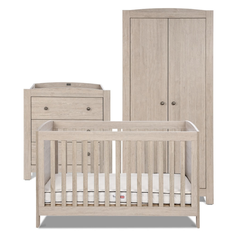 Silver Cross New England 3 Piece Room Set-Oak *Exclusive to Kiddies Kingdom*
