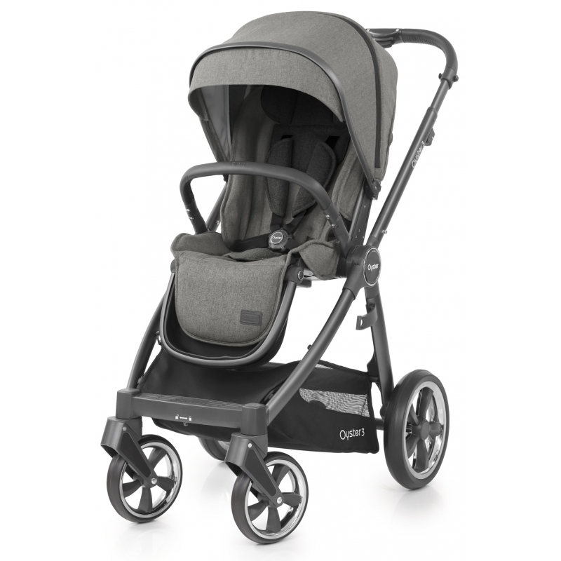 BabyStyle Oyster 3 City Grey Finish Stroller-Mercury (New 2018)