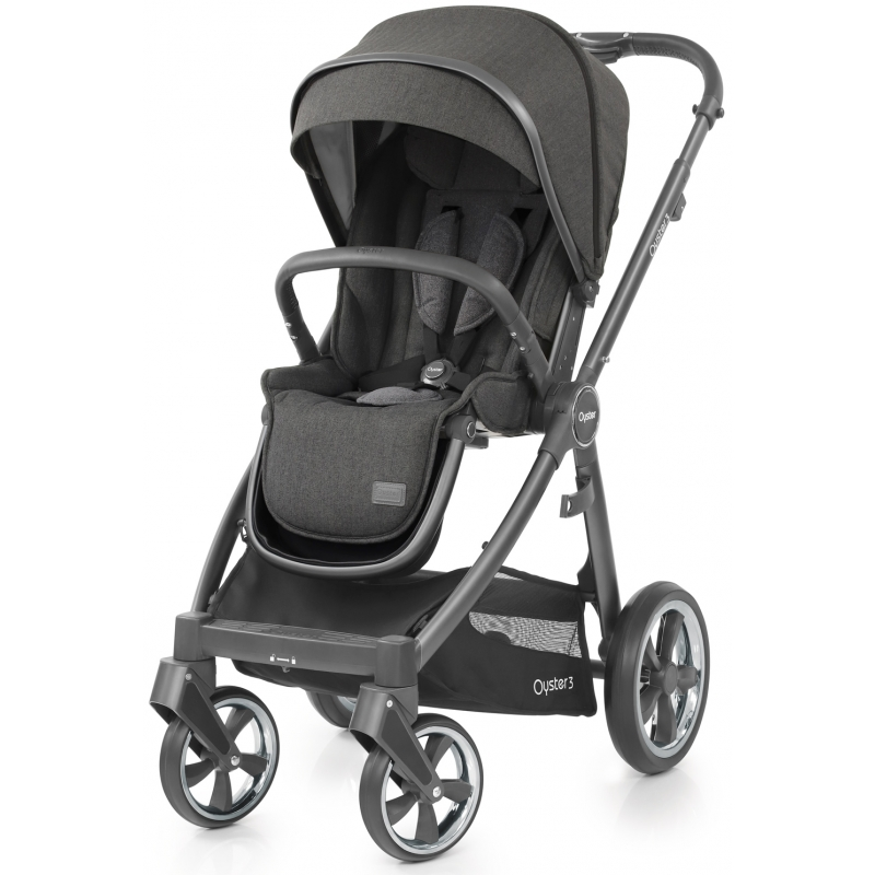 BabyStyle Oyster 3 City Grey Finish Stroller-Pepper (New 2018)