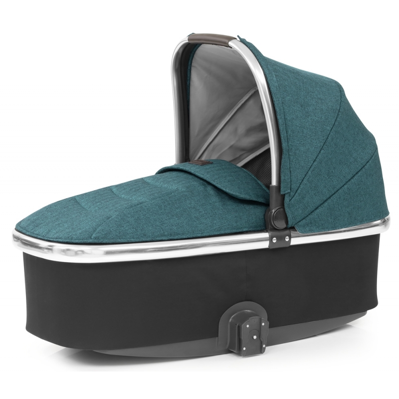 Babystyle Oyster 3 Mirror Finish Carrycot-Peacock