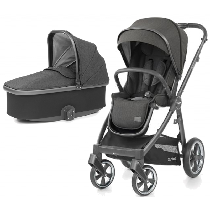 BabyStyle Oyster 3 City Grey Finish 2in1 Pram System-Pepper
