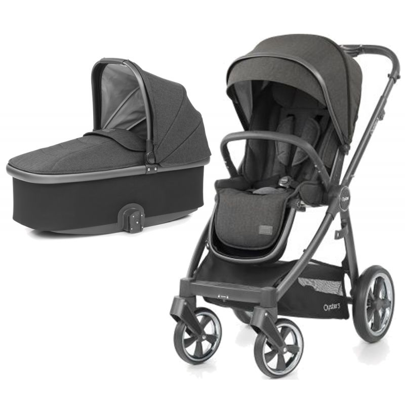 BabyStyle Oyster 3 City Grey Finish 2in1 Pram System Pepper