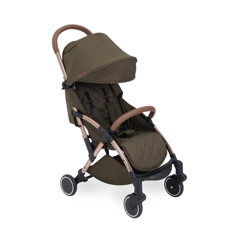 Ickle Bubba Globe Rose Gold Chassis Pushchair-Khaki