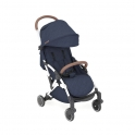 Ickle Bubba Globe Rose Gold Chassis Pushchair-Denim Blue