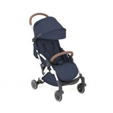 Ickle Bubba Globe Silver Chassis Pushchair-Denim Blue