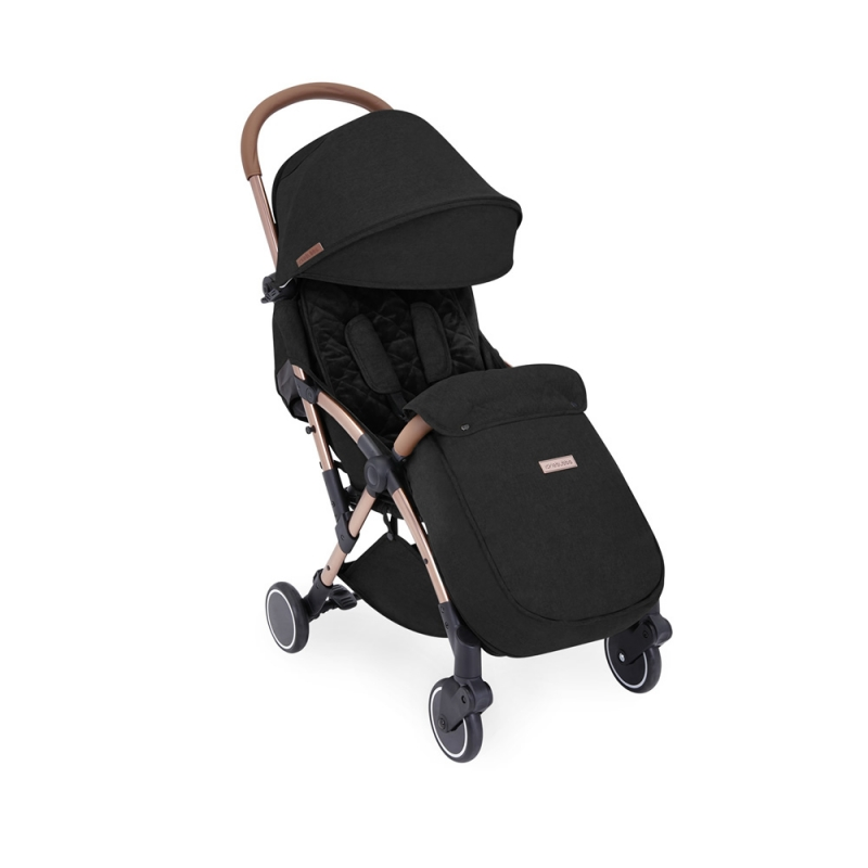 Ickle Bubba Globe Max Rose Gold Chassis Pushchair-Black