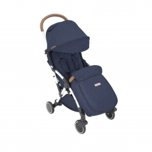 Ickle Bubba Globe Max Silver Chassis Pushchair-Denim Blue