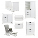Obaby Stamford Classic Sleigh 7 Piece Furniture Roomset-White