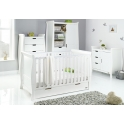 Obaby Stamford Classic Sleigh 4 Piece Furniture Roomset-White