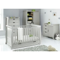 Obaby Stamford Classic Sleigh 4 Piece Furniture Roomset-Warm Grey