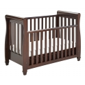 Babymore Eva Sleigh DROPSIDE Convertible Cot Bed-Brown + FREE Sprung Mattress Worth 49.99!