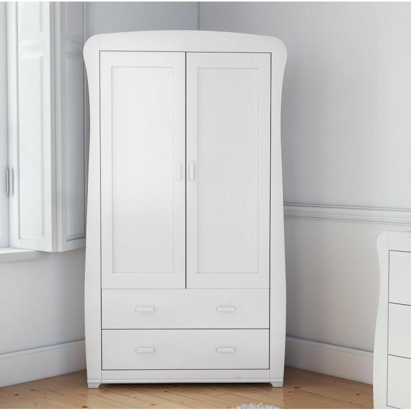 Babymore Bel Full Size 2 Door Wardrobe-White