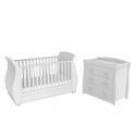 Babymore 3 Piece Nursery Set with Mattress-White
