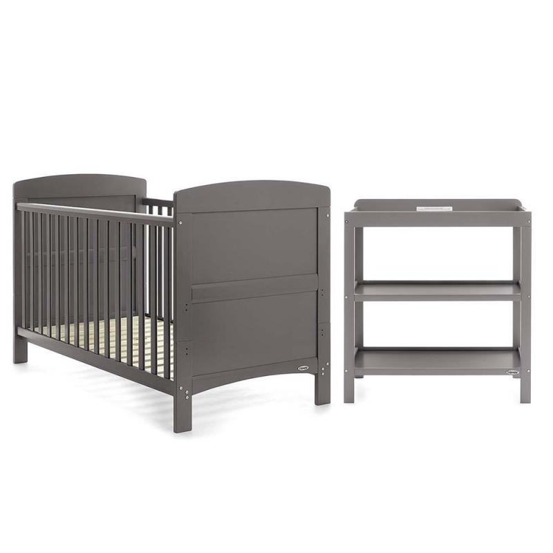 Obaby Grace 2 Piece Furniture Set-Taupe Grey