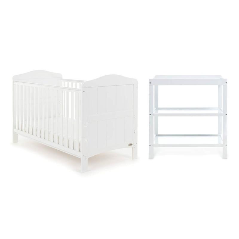Obaby Whitby 2 Piece Furniture Set-White