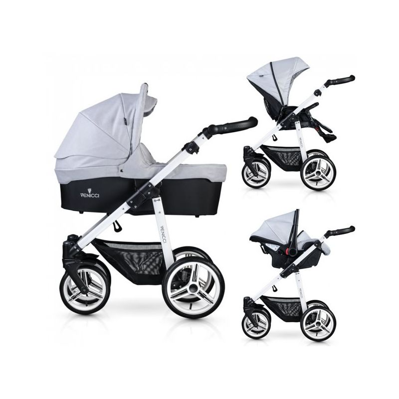 Venicci Soft White Chassis 3 in 1 Travel System