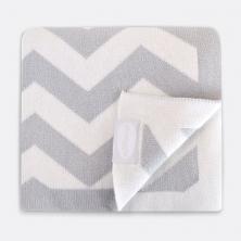 Shnuggle Luxury Knitted Blanket-Chevron