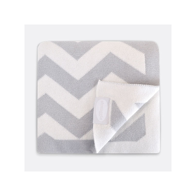 Shnuggle Luxury Knitted Blanket-Grey